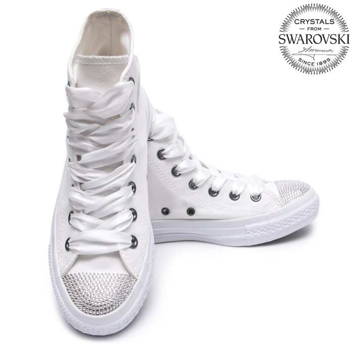 594c9c7e3f1f Converse Swarovski White I High - Shoozers  Shoozers