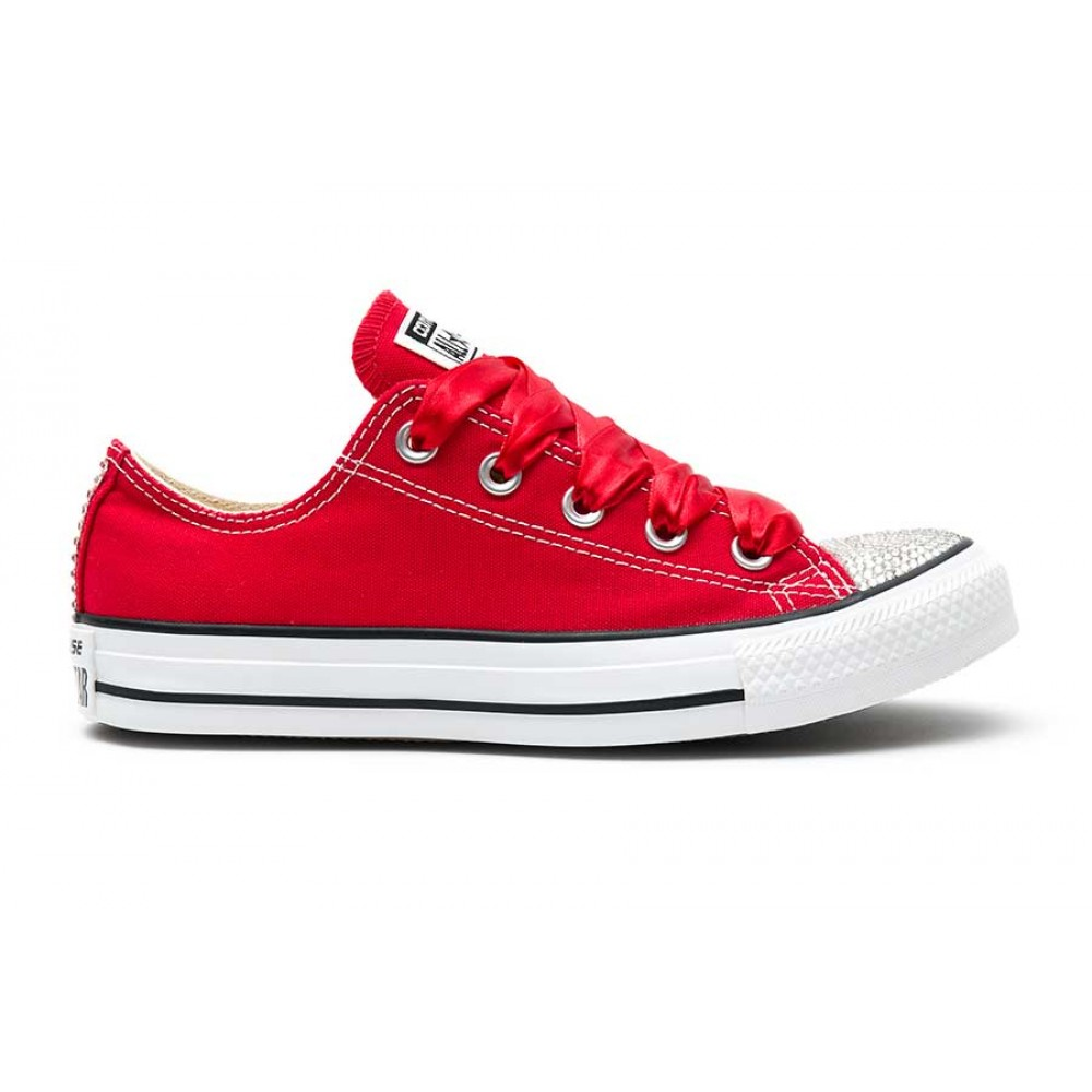 Converse Crystal Red Silver - Shoozers  Shoozers ddd79414bcc