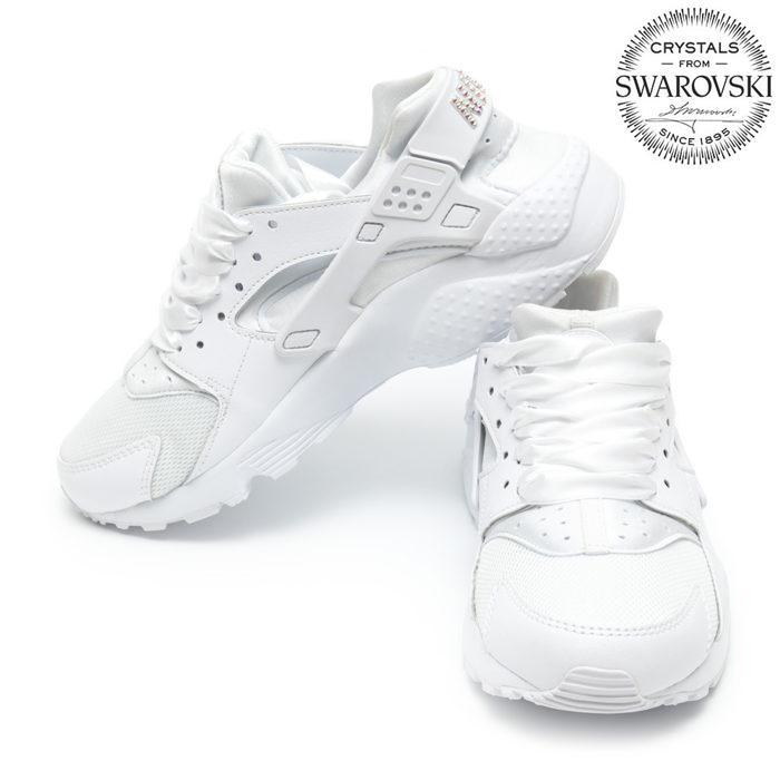 Nike Huarache Run Swarovski White - Shoozers  Shoozers 03fa643cef0